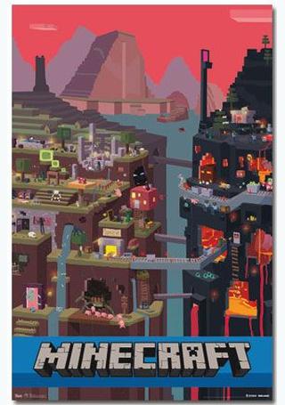 Minecraft - Underground World Gaming Poster - Products | Vintage